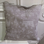 JTCO01 - Coussin toile de jouy taupe