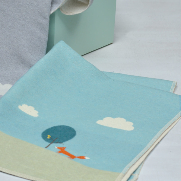 plaid b b motif bleu vert brod renard avenue d. Black Bedroom Furniture Sets. Home Design Ideas